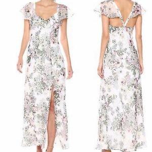 Guess Floral Chiffon Maxi Dress